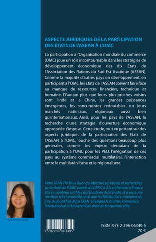 4eme ASPECTS JURIDIQUES DE LA PARTICIPATION DES ETATS DE L'ASEAN A L'OMC
