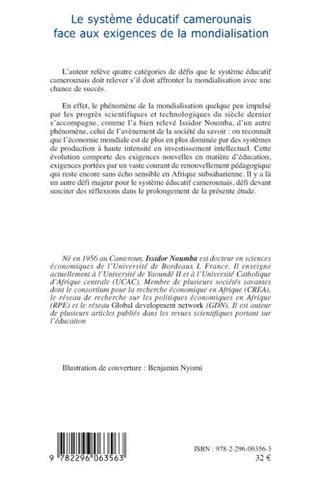4eme Le système éducatif camerounais face aux exigences de la mondialisation