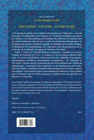 4eme EDUCATION - CULTURE - LITTERATURE