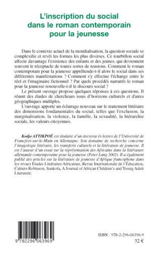 4eme L'inscription du social dans le roman contemporain pour la jeunesse
