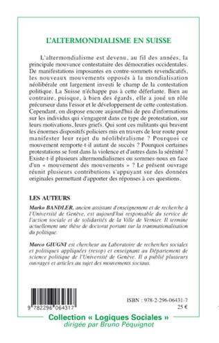 4eme L'altermondialisme en Suisse