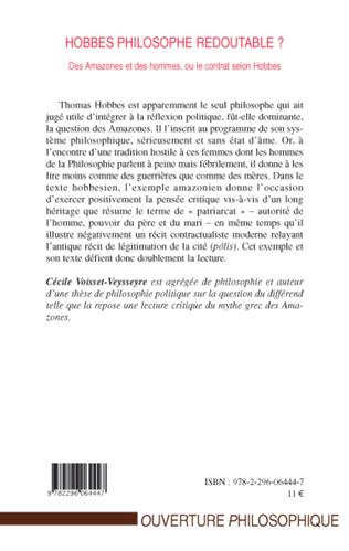 4eme Hobbes philosophe redoutable?