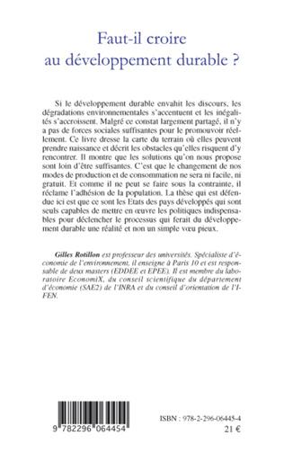 4eme Faut-il croire au développement durable ?