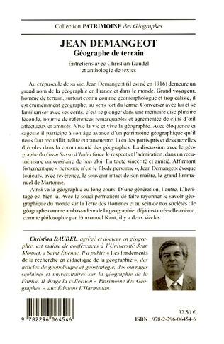 4eme Jean Demangeot géographe de terrain