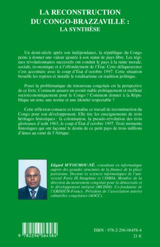 4eme La reconstruction du Congo-Brazzaville : la synthèse