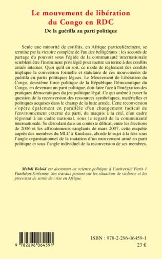 4eme Le mouvement de libération du Congo en RDC