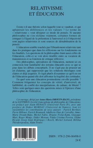 4eme Relativisme et éducation