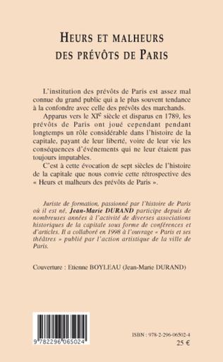 4eme Heurs et malheurs des prévôts de Paris