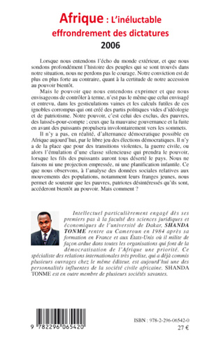 4eme Afrique l'inéluctable effondrement des dictatures