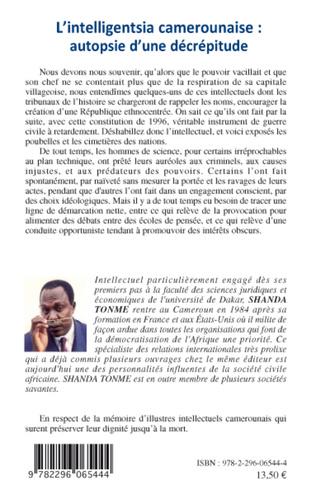 4eme L'intelligentsia camerounaise : autopsie d'une décrépitude