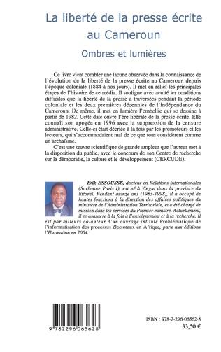4eme La liberté de la presse écrite au Cameroun