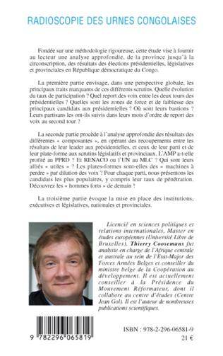 4eme Radioscopie des urnes congolaises