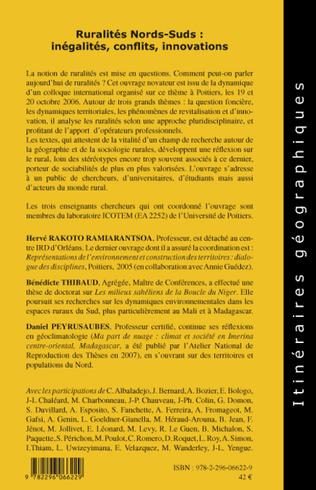 4eme Ruralités Nords-Suds: inégalités, conflits, innovations