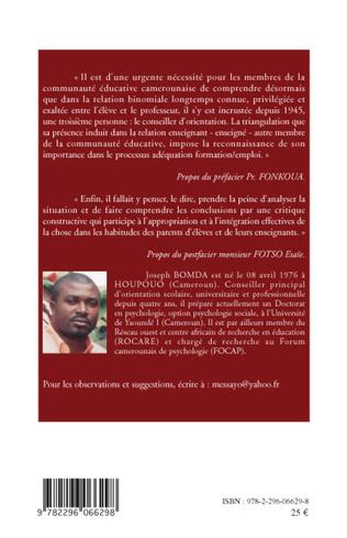 4eme Orientation-conseil scolaire, universitaire et professionnelle au Cameroun