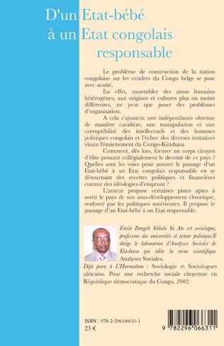 4eme D'un Etat-bébé à un Etat congolais responsable
