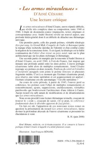 4eme Les armes miraculeuses d'Aimé Césaire