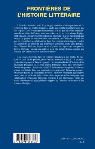 4eme Frontières de l'histoire littéraire