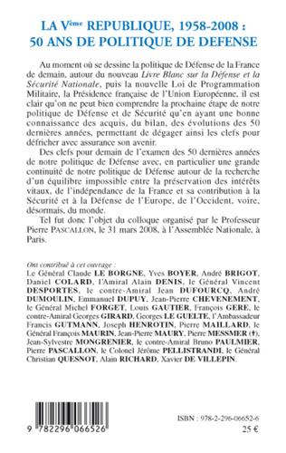 4eme La Vème République 1958-2008