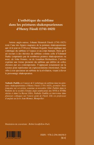 4eme L'esthétique du sublime dans les peintures shakespeariennes d'Henry Füssli