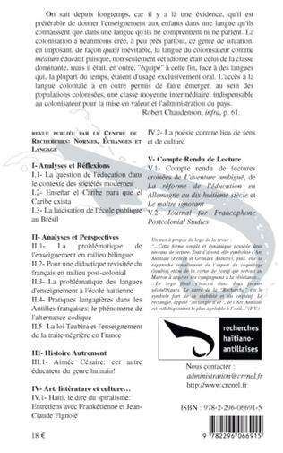 4eme Pratiques langagières dans les Antilles françaises: le phénomène de l'alternance codique