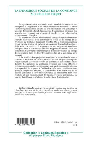 4eme La dynamique sociale de la confiance au coeur du projet