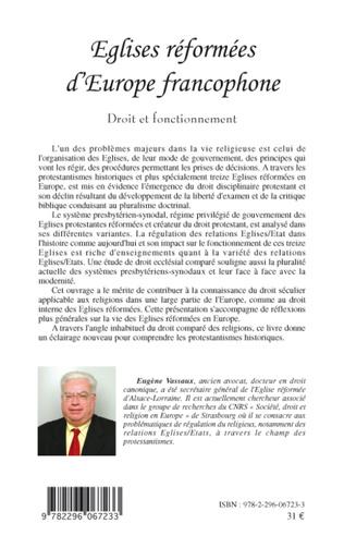 4eme Eglises réformées d'Europe francophone