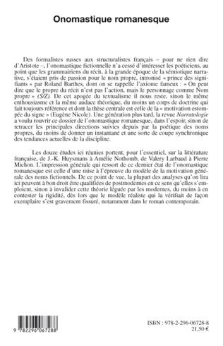 4eme Onomastique romanesque