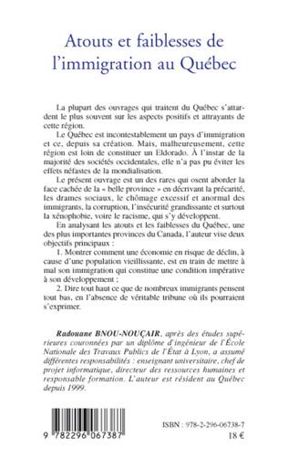 4eme Atouts et faiblesses de l'immigration au Québec