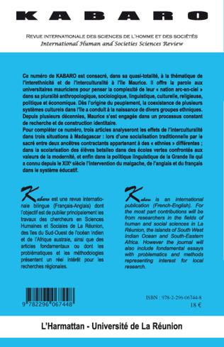 4eme Interethnicité et Interculturalité à l'île Maurice