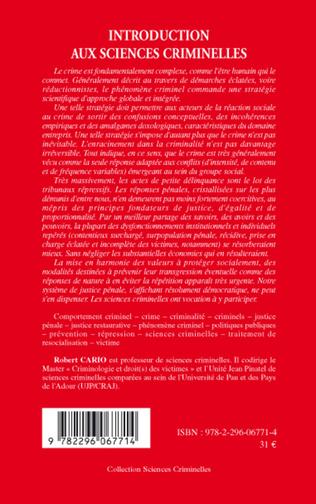 4eme Introduction aux sciences criminelles