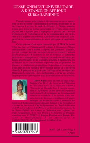 4eme L'enseignement universitaire à distance en Afrique subsaharienne