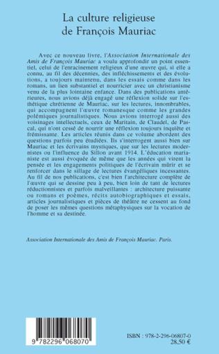 4eme La culture religieuse de François Mauriac