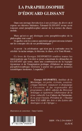 4eme La paraphilosophie d'Edouard Glissant