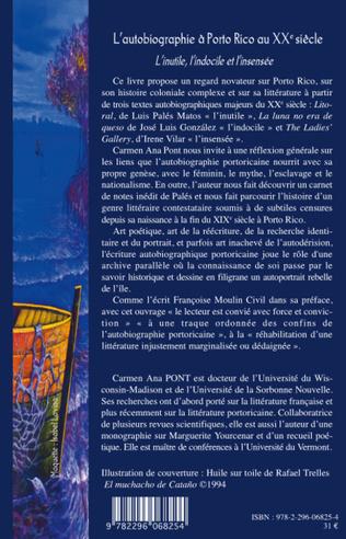 4eme L'autobiographie à Porto Rico au XX° siècle