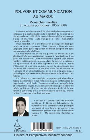 4eme Pouvoir et communication au Maroc