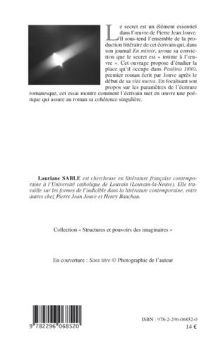 4eme Pierre Jean Jouve, une poétique du secret