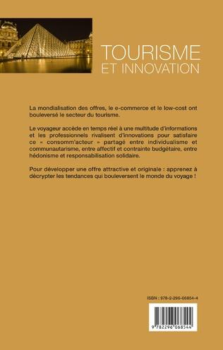 4eme Tourisme et innovation