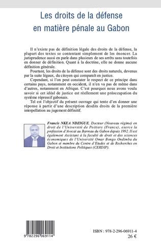 4eme Les droits de la défense en matière pénale au Gabon