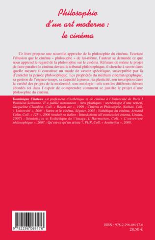 4eme Philosophie d'un art moderne : le cinéma