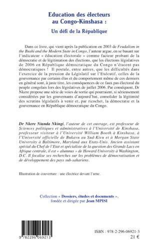 4eme Educations des électeurs au Congo-Kinshasa : un défi de la République
