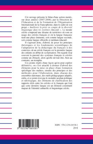 4eme Didactique du français en milieux créolophones