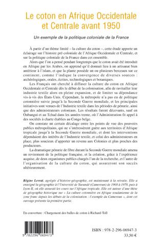 4eme Le coton en Afrique Occidentale et Centrale avant 1950