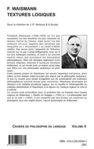 4eme F. Waismann. Textures logiques