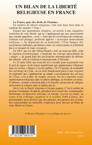 4eme Un bilan de la liberté religieuse en France