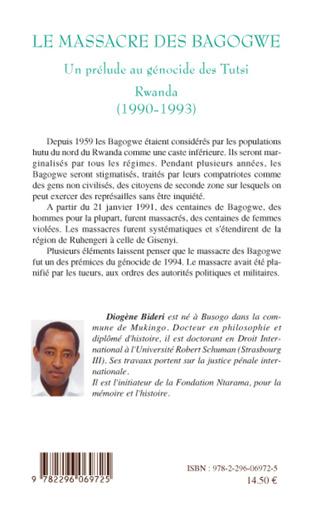 4eme Le massacre des Bagogwe