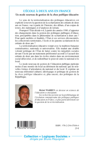 4eme L'école à deux ans en France