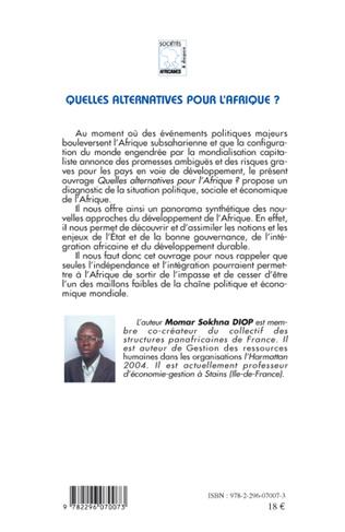 4eme Quelles alternatives pour l'Afrique ?