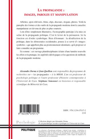 4eme La propagande : images, paroles et manipulation