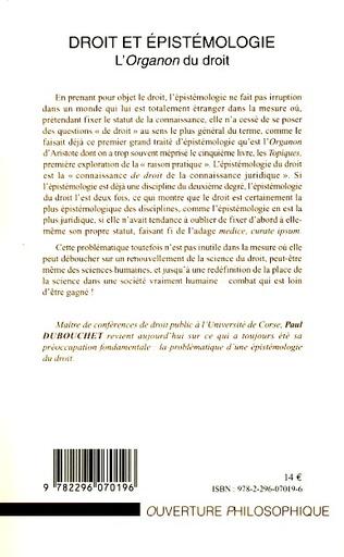 4eme Droit et épistémologie