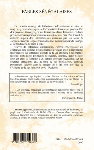 4eme Fables sénégalaises